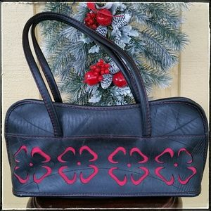 Fair Trade Shoulder Bag Made From Recycled Tires